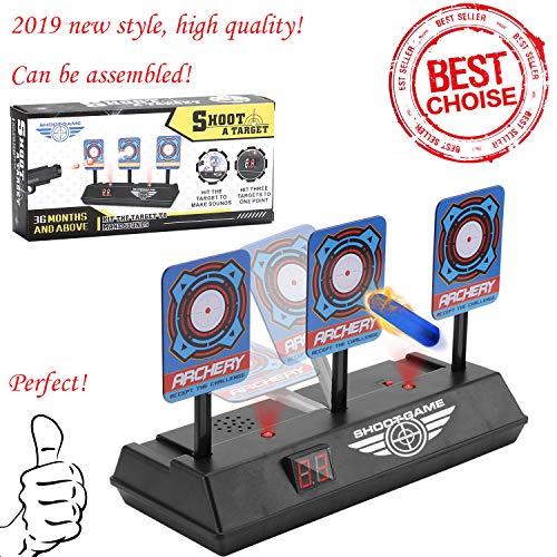 Sparta\'s Store Zielscheibe für Nerf,Auto Reset Elektro-Schießscheiben,Shooting Target,Elektrische Ziel,Toy Gun Elektrische Punktzahl Ziel,Digitale Ziele mit hellem Soundeffekt!