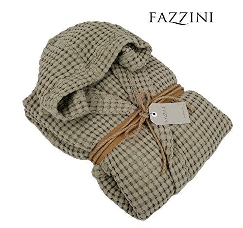 Fazzini accappatoio uomo/donna cotone 100% con cappuccio nettare col. 130 corda (taglia l)