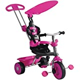 Children's Trike With Canopy & Safety Guard - Red,Blue,Pink,Multicoloured Available