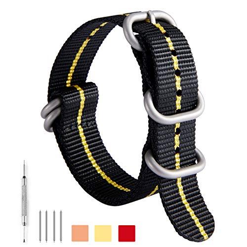 ede095e508c NATO Zulu Watch Strap Thick G10 Premium Ballistic Nylon cinturini per  orologi da uomo 18mm 20mm