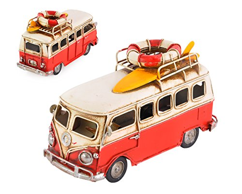 DSstyles-63-Inches-Retro-Metal-Classic-T1-Camper-Van-Beach-Bus-Toy-Modell-for-Birthday-Gift-Red