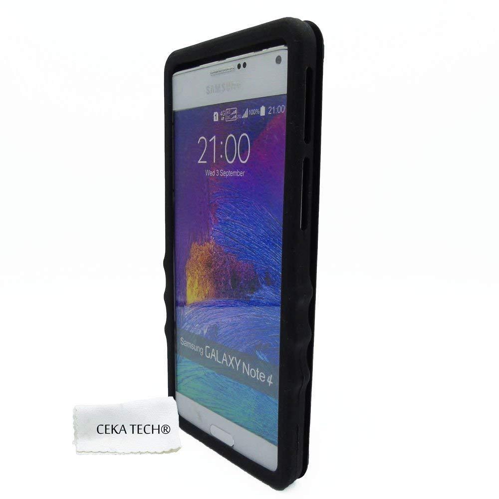 Coque Silicone Gel Compatible avec LOGICOM VR bot 552 (5.5») – Couleur Noir – CEKATECH® Universelle Protection de qualité