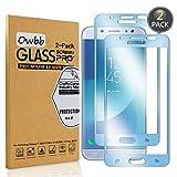 Owbb [2 Pièces] Bleu Protecteur D'écran en Verre Trempé pour Samsung Galaxy J7...