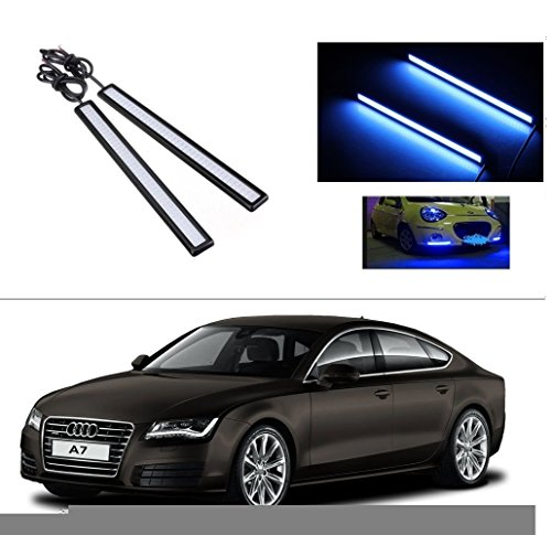 AutoStark Daytime Running Lights Cob LED DRL (Blue) Audi A7  available at amazon for Rs.249