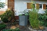 VITAVIA BASIC Hochbeet aus hochwertigem Zinkalume in dunkelgrau, ca. 162 x 82 x 86 cm, Gemüse-, Kräuerbeet, Pflanzentrog, pulverbeschichtet, pflegeleicht, stabil, erweiterbar, Saisonverlängernd Granit 82x82x86 cm