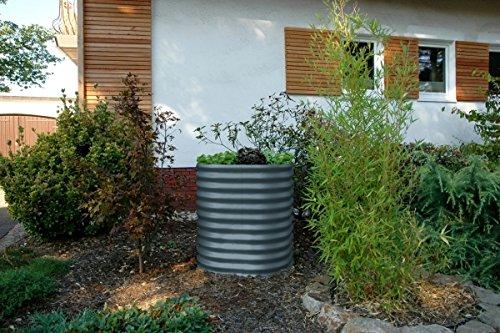 Vitavia Hochbeet, Zinkalume, verschiedene Ausführungen Granit 82x82x86 cm