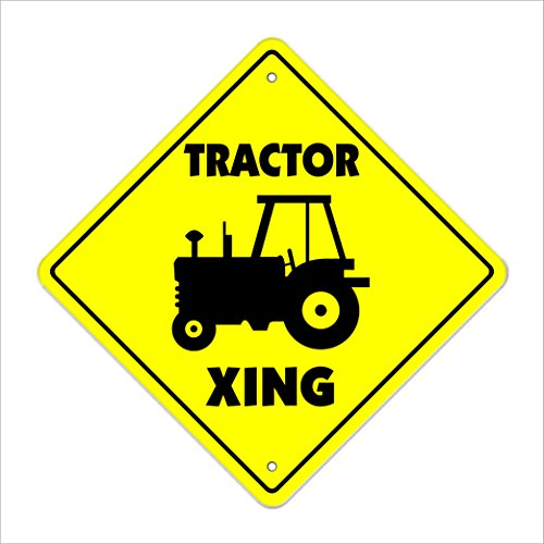 SignMission Traktor Crossing Sign Zone Xing |-| 50,8cm Hoch New Farmer Fall Katze Farm Trailer Kombinieren Equipment -