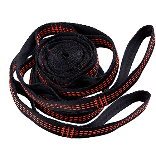 Hängematte-Bügel-Gurt für das Kampieren, tragbares hängendes Baum-Seil im Freien mit Seil-Bügel-Baum-Seil Hochfestes tragendes Nylonscherz-Seil für Rucksack-Terrassen Schwingen