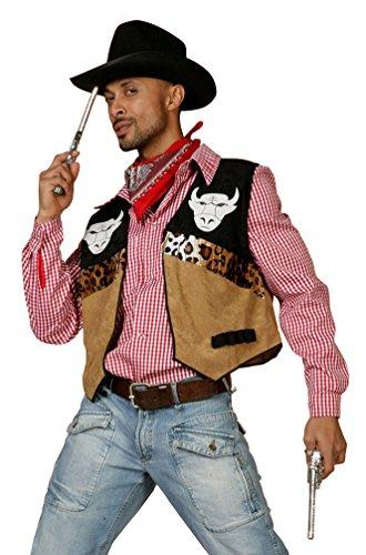 ,Karneval Klamotten' Kostüm Cowboy Weste Buffalo Herr Karneval Western Herrenkostüm Größe 54 (Buffalo Kostüm Für Kinder)
