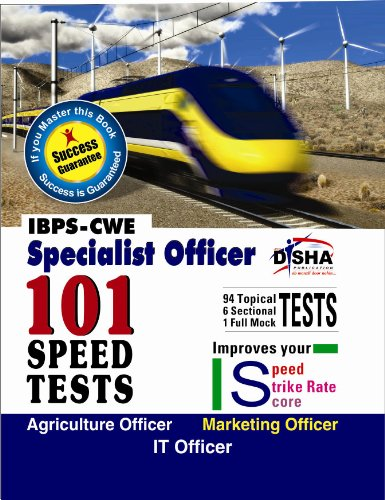 IBPS-CWE Specialist Officer 101 Speed Tests - Agriculture/ Marketing/ IT