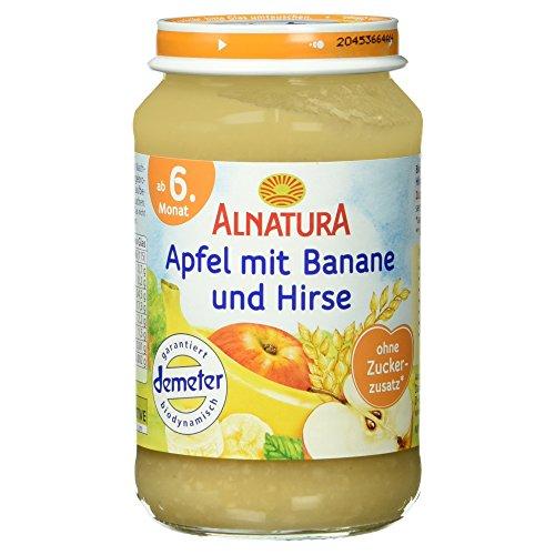 Alnatura Demeter Bio Apfel-Banane mit Hirse, glutenfrei, 6er Pack (6 x 190 g)