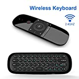 AM-07 Mini Teclado Inalámbrico Mando a Distancia Air/Fly Mouse Mando 2.4G Inalámbrico con Nano USB Receptor Android TV Box HTPC PC IPTV