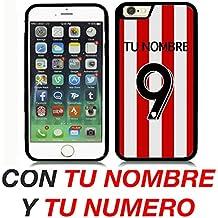 ATHLETIC DE BILBAO CARCASA PERSONALIZADA IPHONE 6 4.7` CON TU NOMBRE Y TU NUMERO FUTBOL