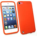 Emartbuy ® Apple Ipod Touch 5 (5. Gen Oktober 2012 Release) Silicon Skin Cover / Case Orange