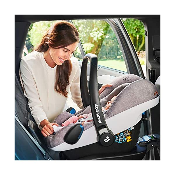 Maxi-Cosi Pebble Plus Baby Car Seat Group 0+, ISOFIX Car Seat, i-Size, 0-12 m, 0-13 kg, 45-75 cm, Nomad Black Maxi-Cosi Baby car seat, suitable from birth to approximate 1 year (0-13 kg, 45-75 cm) Fits with compatible Maxi-Cosi base unit for ISOFIX installation i-Size for enhanced safety and optimal protection against side impacts 7