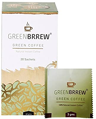 Greenbrrew Instant Green Coffee Beans Extract, 60g (20 Sachets) from Greenbrrew