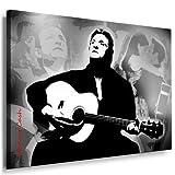 Johnny Cash Leinwand Bild , Bild fertig auf Keilrahmen ! Pop Art Gemälde Kunstdrucke, Wandbilder, Bilder zur Dekoration - Deko. Musik Stars Kunstdrucke