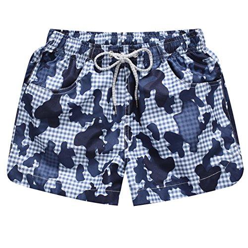Brightup Frauen Mädchen Schnell Trocken Gedruckt Strand Shorts, Swim Shorts für Sommer Urlaub C