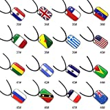 BEARCOLO 48 Countries National Flag Soccer Necklace 2018 Football Game Stainless Steel Jewelry Chain Pendant Women Men Couple Gift 1pcs