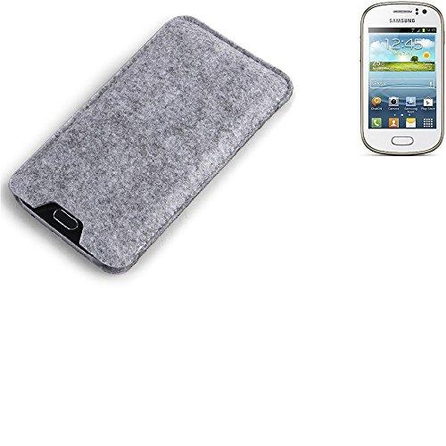 K-S-Trade per Samsung Galaxy Fame Custodia Feltro per Cellulare Custodia Morbida Protettiva Sacchetto Protezione Manica Astuccio Copertina Grigio per Smartphone Samsung Galaxy Fame