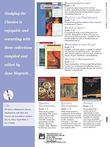 Masterwork Classics: Level 3, Book & CD (Alfred Masterwork Editions)