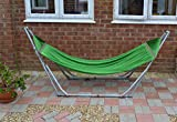Best Hammock With Stands - HIGH-GRADE Foldable HAMMOCK - Green hammock with Folding Review