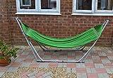 HIGH-GRADE Foldable HAMMOCK - Green hammock with Folding Steel Stand - Outdoor INDOOR
