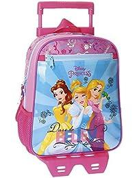 Disney - Mochila ADAP.28CM.C/Carro Princess Rainbow