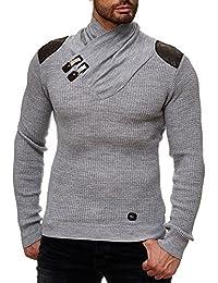 Redbridge Herren Strickpullover V-Neck Sweatshirt Jacke