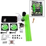 Vbestlife, kit di raffreddamento ad acqua fai da te, 240 mm, kit di raffreddamento per CPU tutto in uno, con ventola LED e dissipatore di calore per computer, kit connettore di raffreddamento ad acqua