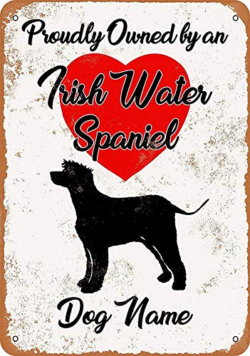Garden Club Teller (JIA KOAH Irish Waterpaniel Kitchen Garden Yardtreet Road Blechschild Metall dekorative Wand Poster Souvenir)