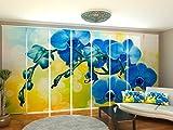 Wellmira Fotogardine, Flächenvorhang, Fotodruck, Schiebevorhang, Bedruckte Schiebegardinen, Gardine mit Motiv, auf Maß (8 x 295x70)