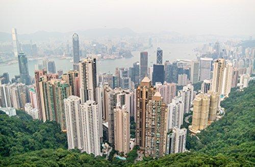hansepuzzle 33014 Gebäude - Hong Kong, 500 Teile in hochwertiger Kartonbox, Puzzle-Teile in wiederverschliessbarem Beutel