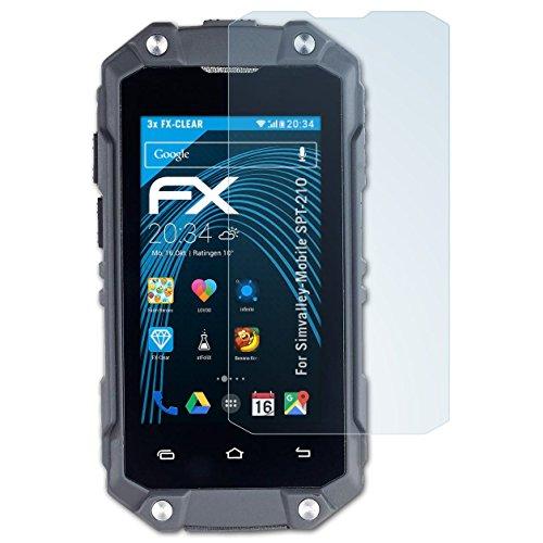 atFolix Schutzfolie kompatibel mit Simvalley-Mobile SPT-210 Folie, ultraklare FX Bildschirmschutzfolie (3X)