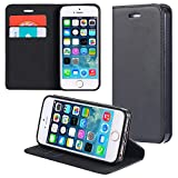 ECENCE Apple iPhone SE / 5 5S Custodia Flip Portafoglio Case Cover Wallet Etui 22020204