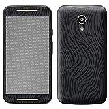 atFolix Skin kompatibel mit Motorola Moto G 2. Generation 2014, Designfolie Sticker (FX-Wave-Black), Fühlbare Wellen-Struktur