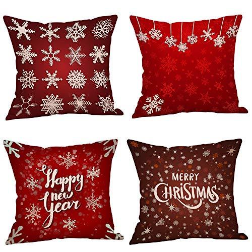 Fundas Cojines de Navidad 4 Pieza