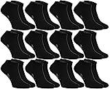 Rainbow Socks 12 paia di calzini corti (sneaker), neri, prodotti in Europa, di cottone, tanti numeri : 44 45 46, massima qualita sia donne sia uomini by