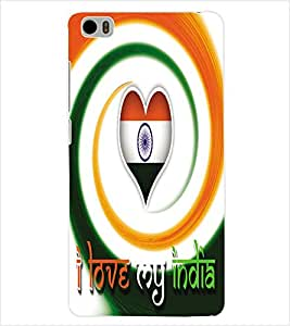 ColourCraft Indian Flag Back Case Cover for XIAOMI MI 5