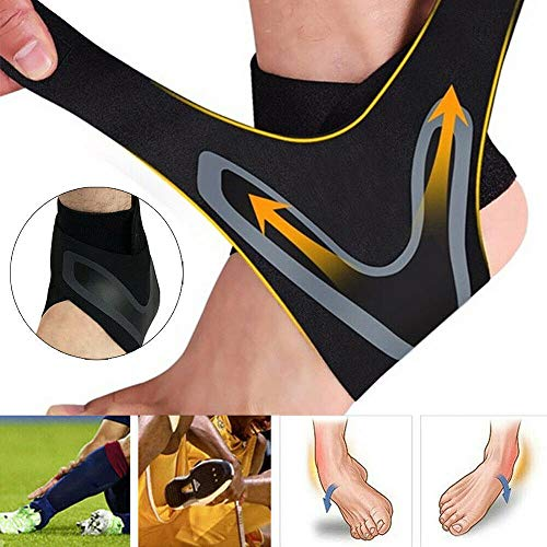 Sports Ankle Brace Ankle Protectors Anti Sprain Outdoor Basketball Football Supports Straps Bandage Wrap Foot Safety Posture Corrector - Compression Support Sleeve Ankle Strap -