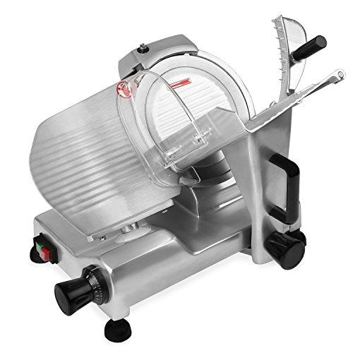 Vertes 300 mm Affittatrice elettrica professionale (Spessore di taglio: 0,2 - 15 mm, Dispositivo di affilatura integrato, Lama in Acciaio Inox)
