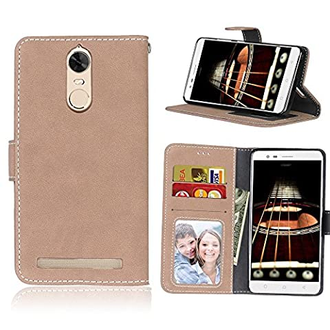Lenovo K5 Note (5,5 Zoll) Case,BONROY® Lenovo K5 Note (5,5 Zoll) Retro Matte Leather PU Phone Holster Case, Flip Folio Book Case, Wallet Cover with Stand Function, Card Slots Money Pouch Protective Leather Wallet Case for Lenovo K5 Note (5,5 Zoll)