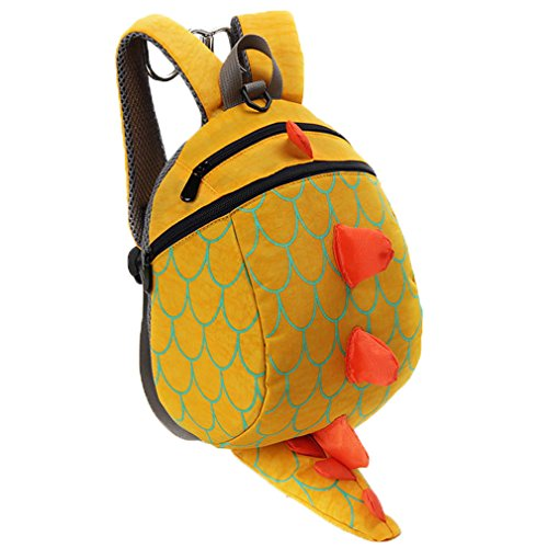 Kopf Tasche Den Kostüm Über - Niedliche Dinosaurier-Tier-Kind-Rucksack Anti verlorene Tasche (Gelb)