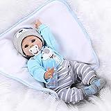 ZIYIUI 55 cm 22 Zoll Weiche Silikon Vinyl Reborn Baby Puppe Junge lebensechte Neugeborenen Mädchen Weihnachtsgeschenk