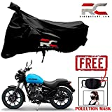 #5: Riderscart Bike Cover for Royal Enfield Thunderbird 500 X Polyester 190T Resistant UV Protection Cover and Anti Pollution PM 2.5 Face Mask
