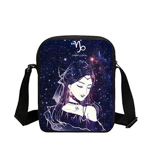 YDXC Schultasche Frauen Messenger Bag Fashion Print Mädchen Casual Umhängetasche, C (Print Messenger Galaxy Bag)