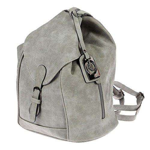 Nili Bags and More Damen Rucksack Handtasche Shopper Rucksackhandtasche Handtasche Bag Hellgrau