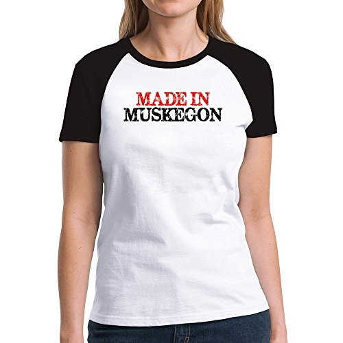 Eddany Made in Muskegon Damen Raglan T-Shirt