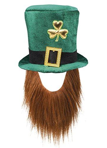 Kobold Kostüm Erwachsene Das Für - Boland 44907 Hut Leprechaun grüner Kobold mit Bart, mens, One Size