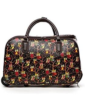 LeahWard® Mittlere Größe Reisetasche Handgepäck Wagen Wochenendeleicht zu EndeAusgehabend Tasche mit Rads
